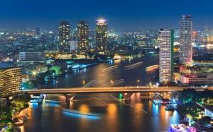 Die Skyline von Bangkok