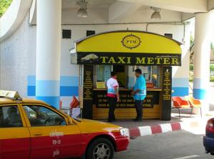 Phuket Flughafen Taximeter-Stand
