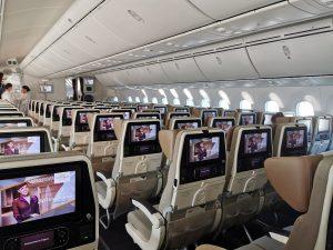 6 Passagiere in der Eco mit Etihad