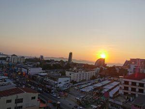 Pattaya Sonnenuntergang in Naklua